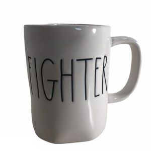 Rae Dunn Farmhouse Mug Cup Fighter Words Letters